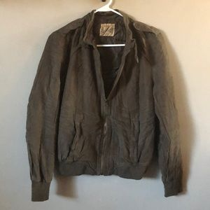 Ruff Hewn light faux leather brown soft jacket